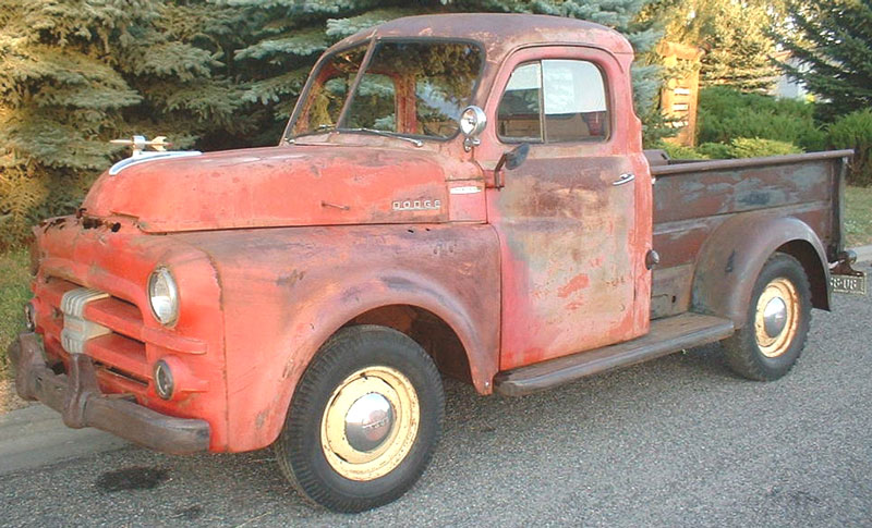 Job-Rated 5 Window Pickup Truck Red For Sale $3,000 left front view