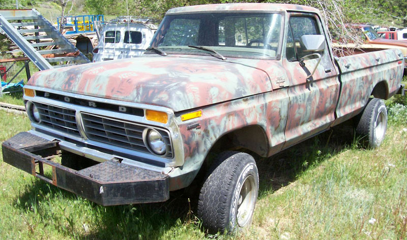 1976 Ford F 150 Ranger 4x4 1 2 Ton Pickup Truck Camo For Sale