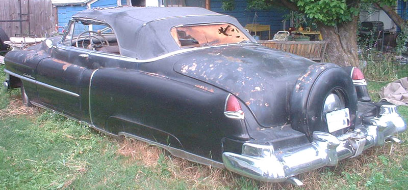 1950 Cadillac Series 62 Convertible Coupe with Continental Kit For