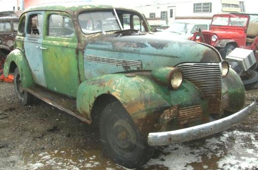 1939 Chevrolet Master Deluxe Model Ja Trunk Back 4 Door