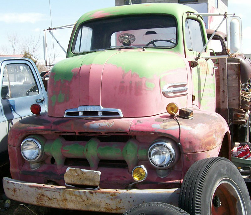 1951 ford f 5 coe cab over engine flatbed truck for sale for Ford truck motors for sale