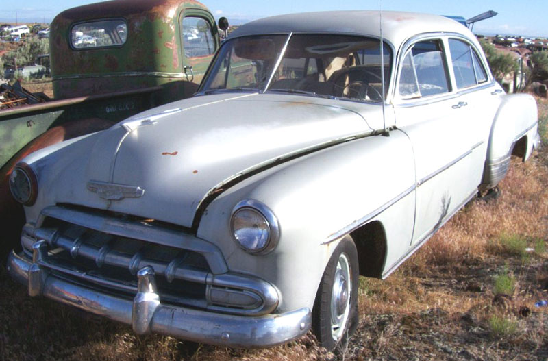 Restorable chevrolet classic and vintage cars for sale 1950 54 for 1952 chevy 4 door