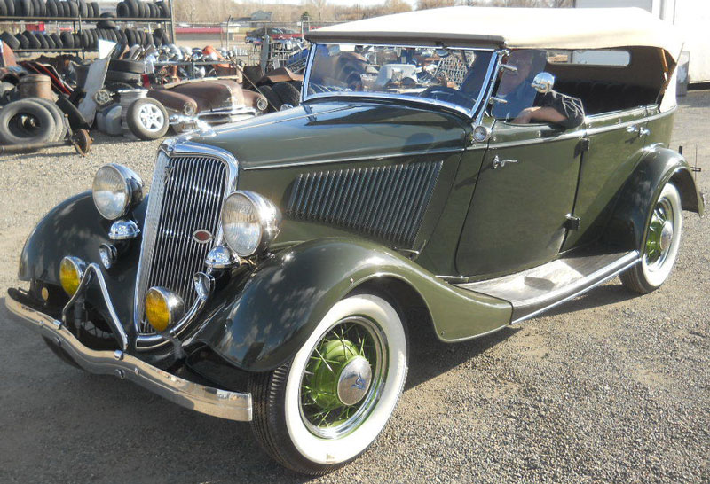 1934 Ford Model 40 V-8 4 passenger phaeton convertible for sale $80000 & Restored and Original Ford Classic and Vintage Cars For Sale markmcfarlin.com