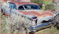 1957 Oldsmobile Eighty-Eight 88 2 door post sedan left rear view
