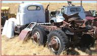 1956 Mack Model B 63 Thernodyne diesel LWB dual tandem tractor left rear view
