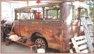 1922 Lincoln 12 Passenger Bus left rear view
