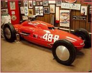 1955 Bonneville B-Lakester Belly Tank Race Car in current owner's shop
