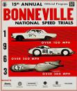 15th Annual Bonneville National Speed Trials Program 1963