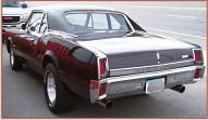 1967 Oldsmobile Custlas 4-4-2 2 door post sedan left rear view