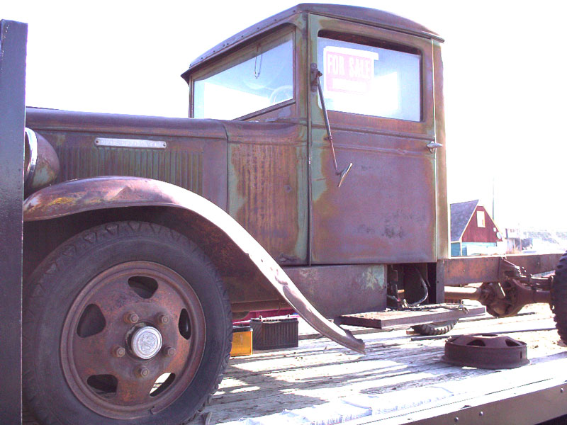 1930 REO Speed Wagon DF Tonner Flatbed Truck For Sale