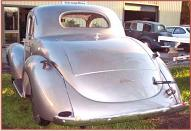 1937 Willys 5 window coupe left rear view view
