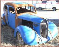 1938 Plymouth P5 Road King 4 door sedan started old school hot rod right front view