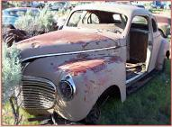 1941 Plymouth P11 Deluxe 2 door 5 window business coupe left front view