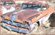 1956 Plymouth Savoy V-8 optioned 2 door post sedan left front view