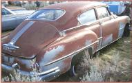 1950 Pontiac Streamliner Silver Streak 8 two door fastback coupe right rear view