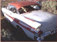 1957 Pontiac Chieftain Catalina 2 door hardtop left rear view for sale $4,500