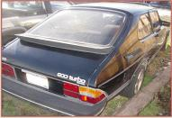 1983 Saab 900S Turbo 2 Door Hatchback Coupe right rear view