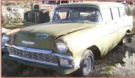 1956 Chevrolet 210 Six Passenger 4 Door Station Wagon For Sale $3,500 left front view