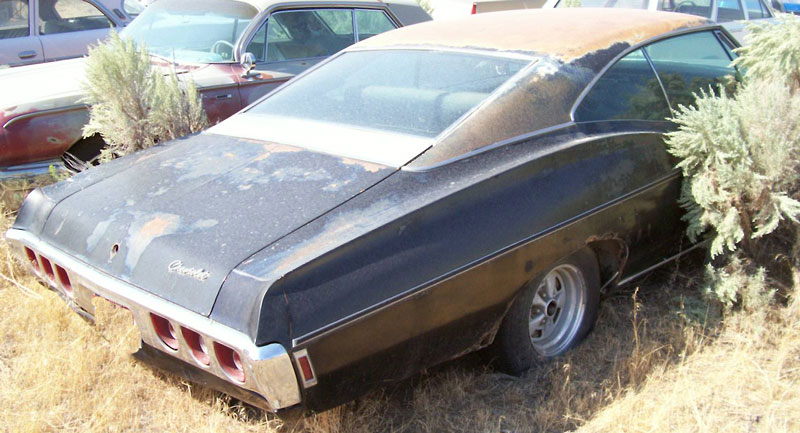 This black 1968 Chevrolet Impala SS Super-Sport-optioned 2 door ...