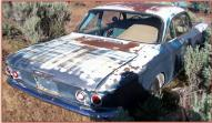 1960 Chevrolet Corvair Monza 900 2 door club coupe right rear view