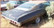 1968 Chevy Impala SS 396 2 Door Fastback Hardtop right rear view