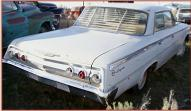 1962 Chevrolet Impala 4 door hardtop right rear view