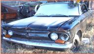 1962 Chevrolet Corvair Monza Sypder convertible left front view