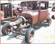 1926 Ford Model T 2 door coupe body and chassis left front view