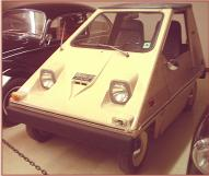 1975 Sebring-Vanguard Electric Citicar 2 door coupe left front view