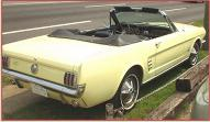 1966 Ford Mustang Convertible right rear view