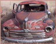 1946 Ford Super Deluxe 2 door fastback sedan front view