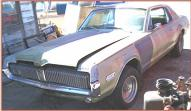 1968 Mercury Cougar 2 Door Hardtop 302/3 left front view
