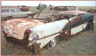 1956 Oldsmobile Super 88 convertible project car right rear view
