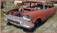 1957 Plymouth Deluxe Suburban 2 Door Station Wagon For Sale left front view
