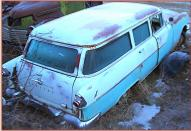 1955 Pontiac Chieftain 4 Door Station Wagon right rear view