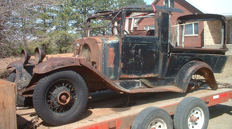 1932 Chevrolet Confederate Canopy Express Produce Truck left front view & 1932 Chevrolet Confederate Canopy Express Produce Truck