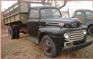 1949 Ford F-5 1 1/2 Ton Hoist Box Dump Truck right front view