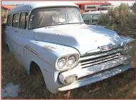 1958 Chevrolet Apache 31 Suburban 1/2 Ton Truck right front view