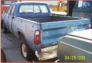 1977 Dodge W200 Sweptline Crew Cab 3/4 Ton 4X4 Truck left rear view