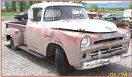 1957 Dodge D100 1/2 Ton Pickup with DeSoto Hemi right front view