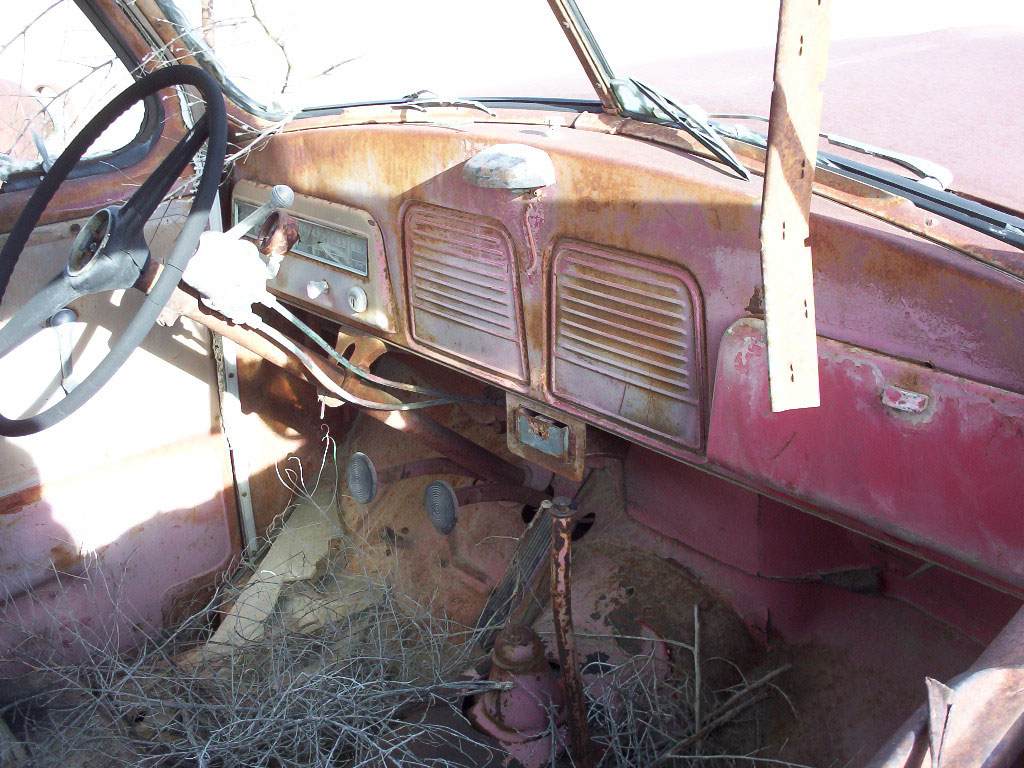 1951 studebaker r15 one ton truck right interior view
