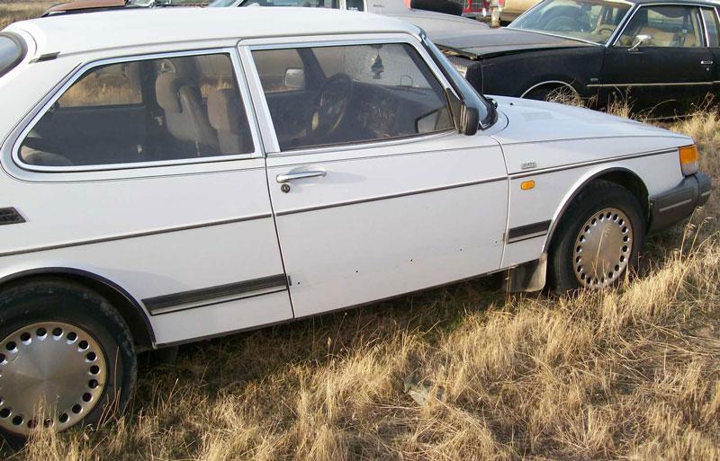 Saab Sedan White