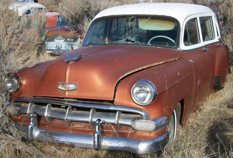 Classics 1954 Chevrolet 150 One Fifty 4 Door Station Wagon For Sale