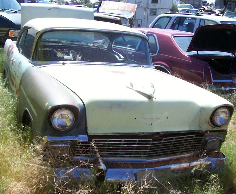 Craigslist 56 chevy project car 4 door belair for sale for 1956 chevy belair 4 door for sale