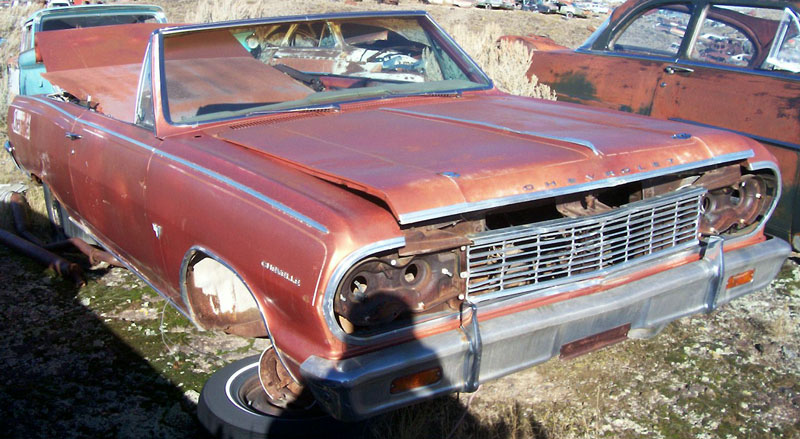 1964 Chevrolet Chevelle Malibu SS 327 V 8 4 Speed Convertible For Sale Right Front