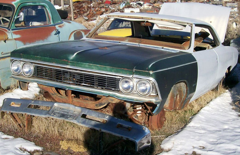 1966 Chevrolet Chevelle Malibu 2 Door Hardtop Body & Chassis For Sale