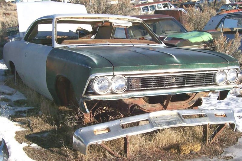 1966 Chevrolet Chevelle Malibu 2 Door Hardtop Body