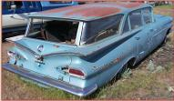 1959 Chevrolet Biscayne Brookwood 4 Door 6 Passenger Station Wagon For Sale right rear view