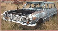1963 Chevrolet Bel Air 4 Door 6 Passenger Station Wagon For Sale left front view