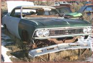 1966 Chevrolet Chevelle Malibu 2 Door Hardtop Body & Chassis For Sale right front view